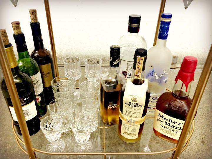 Bar Cart Bottom Shelf