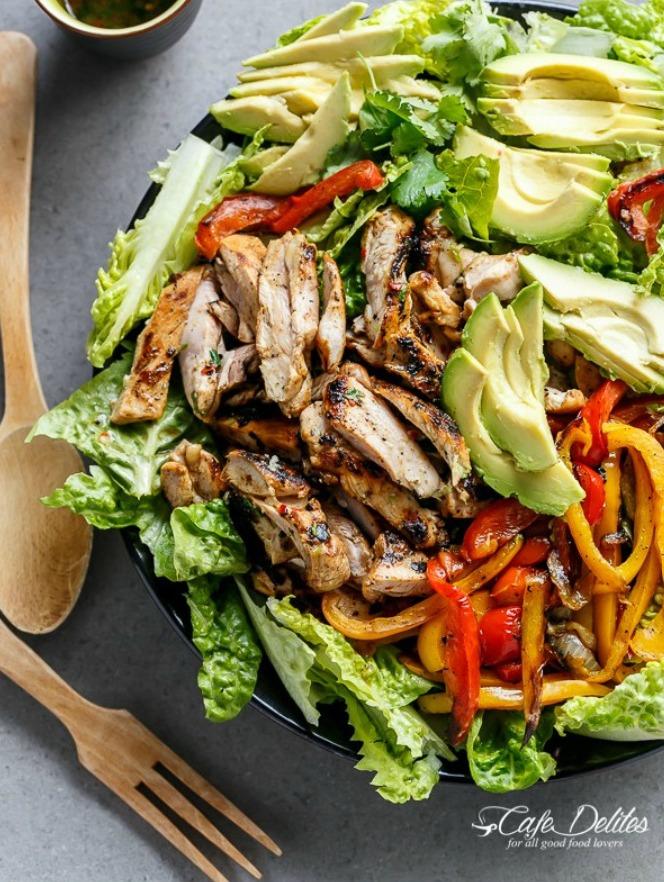 Cafe Delites Fajita Salad