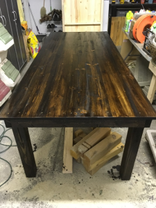 Harvest Table Gloss Finish