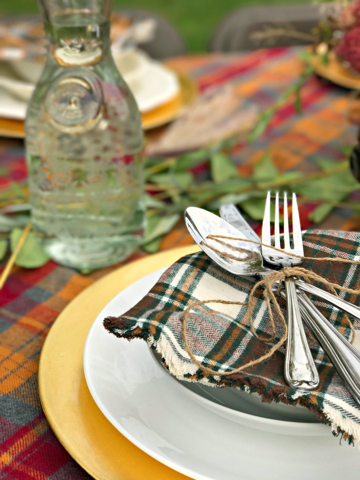 Close up place setting