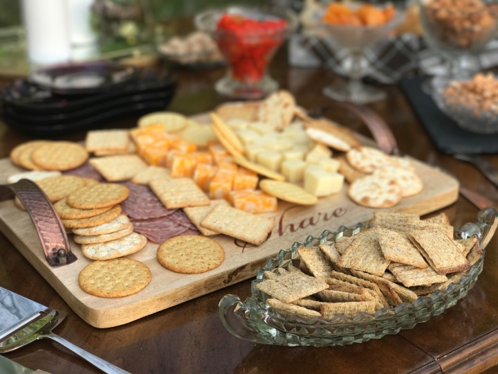Charcuterie Table Cheese and Crackers