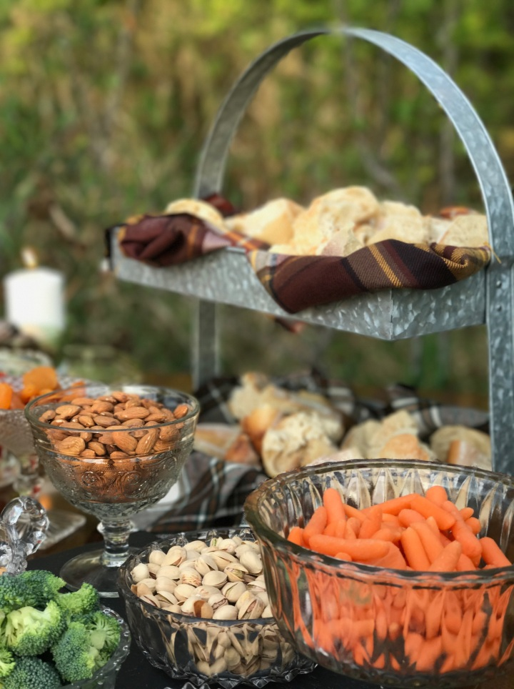Charcuterie Table Nuts & Veggies